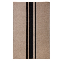 rectangle area rug handwoven natural black stripe