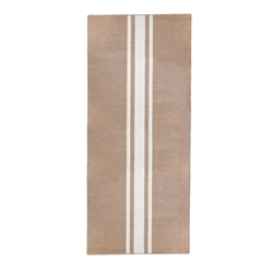 long rectangle area floor runner rug handwoven natural ivory stripes