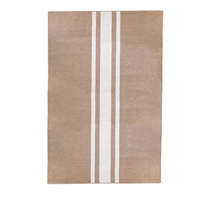 rectangle area rug handwoven natural ivory stripe