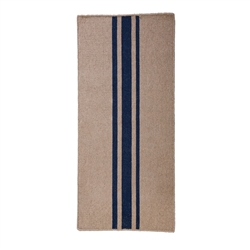 long rectangle area floor runner rug handwoven natural navy blue stripes
