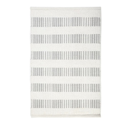 rectangle area rug hand woven ivory light grey stripe wool