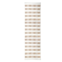 long rectangle area floor runner rug hand woven off-white natural tan