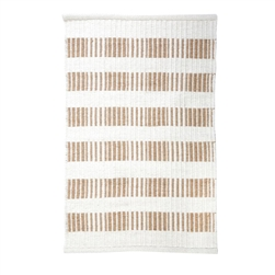 rectangle area rug hand woven ivory natural stripe wool