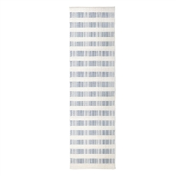 long rectangle area floor runner rug hand woven off-white light blue