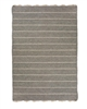 gray off-white stripe area rug fringe