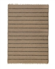 tan natural stripe area rug fringe