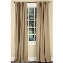 "Emdee International drapery curtain panel window treatment cotton boucle texture woven lined 3"" rod pocket hidden tabs ready-made flax tan natural"