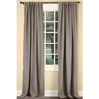 "Emdee International drapery curtain panel window treatment cotton boucle texture woven lined 3"" rod pocket hidden tabs ready-made gray"