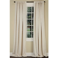 "Emdee International drapery curtain panel window treatment cotton boucle texture woven lined 3"" rod pocket hidden tabs ready-made ivory off-white"