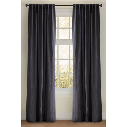 "Emdee International drapery curtain panel window treatment machine washable lined 3"" rod pocket hidden tabs"