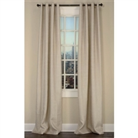 Emdee International drapery curtain panel window treatment burlap ivory gold metallic grommets lined