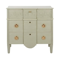 chest drawers gold hardware geo design