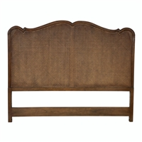 king headboard brown carved detail