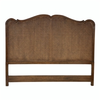 queen headboard brown carved detail