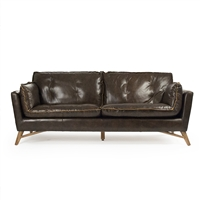 Mid Century Leather Sofa - Juste