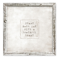 framed shelf grateful heart art message inspiration encouragement canvas square