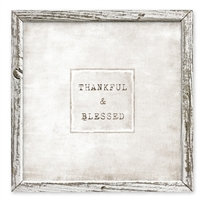 framed shelf thankful blessed art message inspiration encouragement canvas square