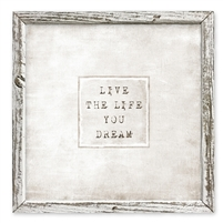 framed shelf dream life art message inspiration encouragement canvas square
