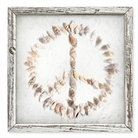 Seashells & Peace Shelf Art (size + frame options)