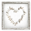 Heart Seashells Shelf Art (size + frame options)
