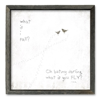 """What if ..."" Shelf Art (size + frame options)"
