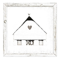 framed shelf art rustic barn