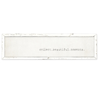 long framed wood white gray distressed wall art collect.beautiful.moments