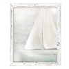 shelf art recycled wood frame sailboat