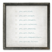 You Are My Friend Shelf Art (size + frame options)