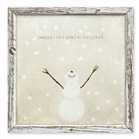 snowman white christmas shelf art holiday