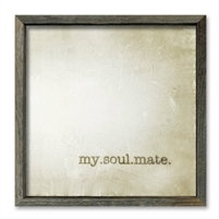 framed shelf art wood reclaimed square love soul mate