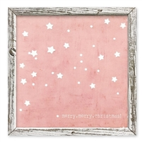 pink star merry christmas shelf art