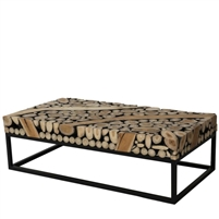 black and off-white coffee table, contemporary teak coffee table, teak coffee table