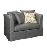 oversized chair slipcover charcoal