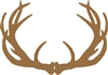 brown antlers paper placemat