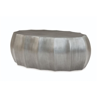 modern cocktail table oval zinc cast stone