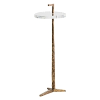 acrylic antique bronze accent table modern