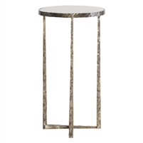 antique bronze accent table glass metal