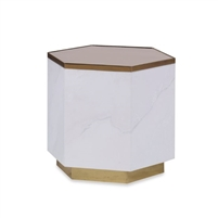 bronze top gray cocktail table bunching marble