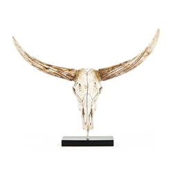 Resin Bull Skull  on Base