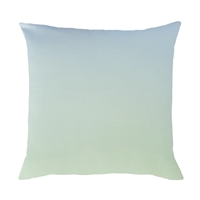 light blue green ombre throw toss accent pillow
