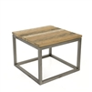 salamanca recycled teak end table square open frame iron