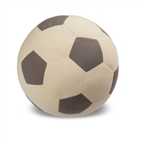 Child's Pouf - Soccer Ball  - Black Canvas