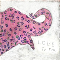 small print pink elephant flowers