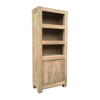bookcase teak wood shelves
