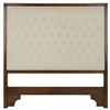 king headboard wood upholstered cream fabric