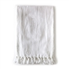 Pom Pom at Home White Linen Montauk Blanket - White Linen Blanket
