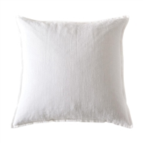 "pillow linen rectangle large ocean white feather down insert 1/2"" flange"