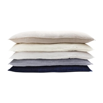pillow long body linen soft textured white cream navy indigo ocean feather down