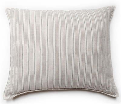 Newport Big Linen Pillow With Insert Natural Navy Striped Linen Extraordinary Newport Feather Decorative Pillow